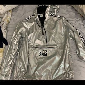 Silver anorak